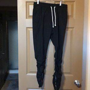 Cotton twill jogger pants